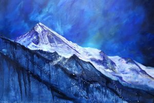 Dent Blanche, huile 150x100